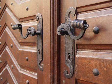 two historic handles