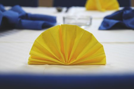 close-up of napkin