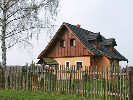 garth: beautiful house  Stock Photo