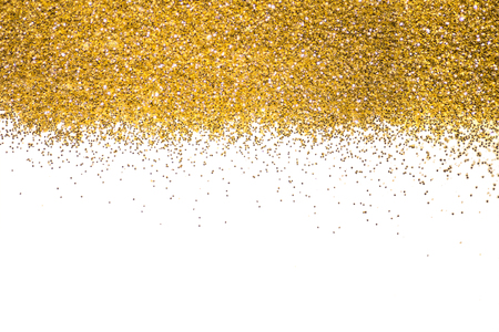 Gold border Sequins Golden shine. Powder. Glitter. Shining background