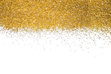 Paillettes bordo d'oro brillare d'oro. Polvere. Glitter. sfondo luminoso