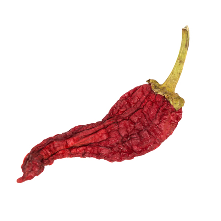 Dry chili pepper isolated. Dried vegetable. natural texture Stock Photo