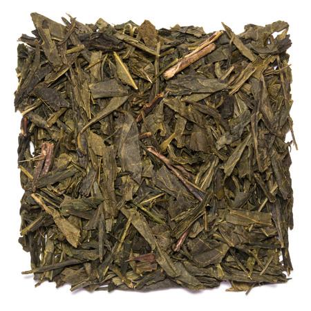 Dry tea Sencha isolated on white background