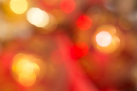 Orange and red bokeh. The background with boke. Abstract texture. Color circles. Blurred. Stock fotó