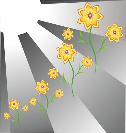 flowerses: The Flowerses and sun. Illustration