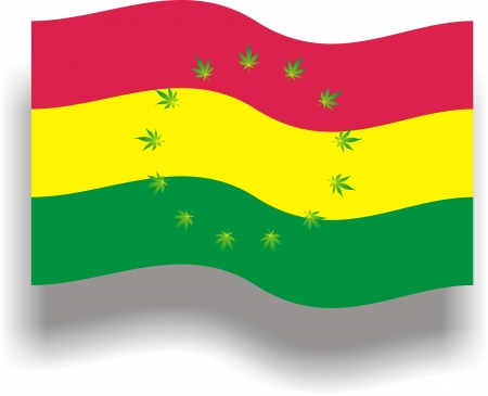 Flag with cannabis Vector
