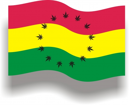 fanatic: Flag with cannabis