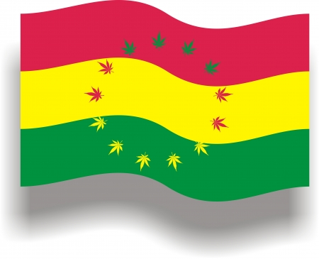 Flag with cannabis