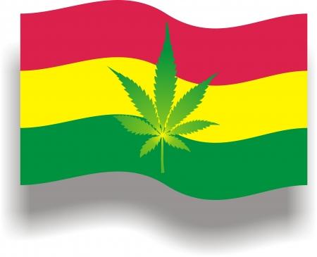 Flag with cannabis Stock Vector - 18940230