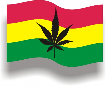 Flag with cannabis