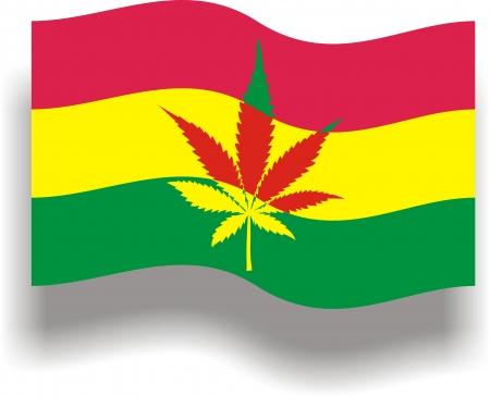 hashish: Flag with cannabis