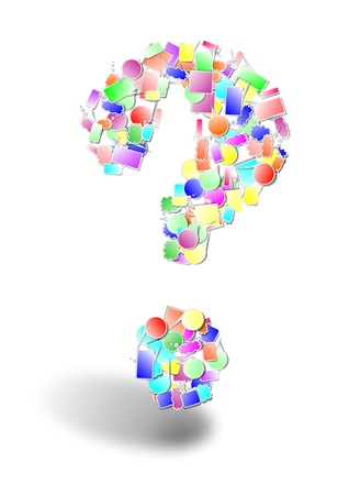 Question mark made by bubbles Stock Vector - 19825591