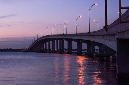 myers: Caloosahatchee Bridge Fort Myers Florida Stock Photo