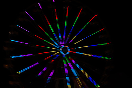 colour intensity: Abstract lights blue green red Stock Photo