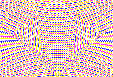 exemplar: Colorful optical illusion