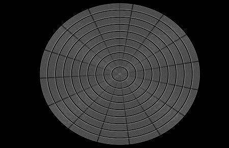 illustion: Black and white op art circle Stock Photo