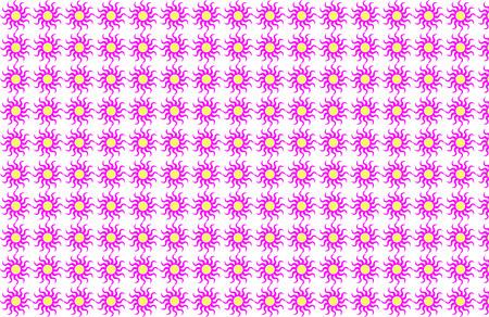노랑 센터 패턴 배경으로 핑크 피닉스