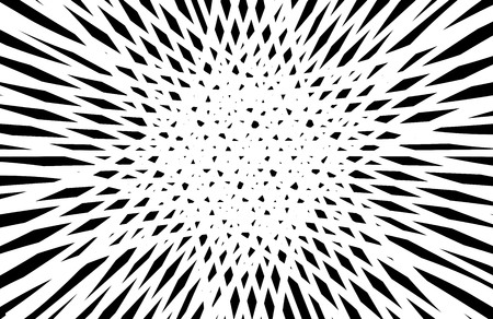 Abstract black and white op art