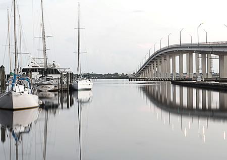 myers: Caloosahatchee Bridge Fort Myers Florida Stock Photo