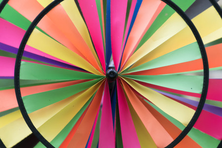 Round colorful wheel