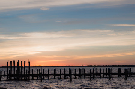myers: Sunset in Fort Myers, Florida Stock Photo