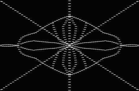 Black and white symetric design Stock Photo