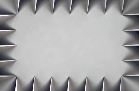 Gradient triangle border grayscale