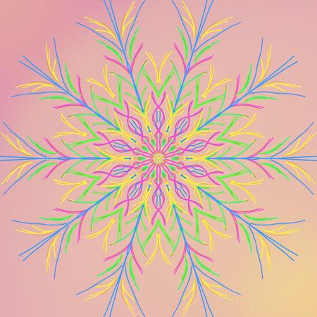 Flower spirograph design with gradient background