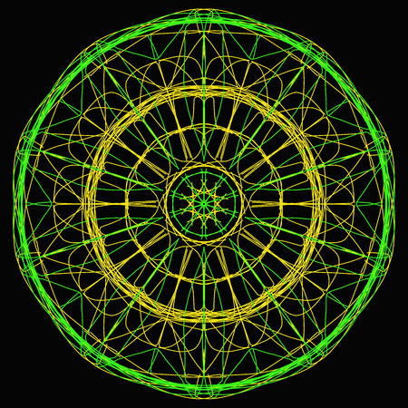 Spirograph geometrical design