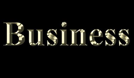 Gold word business on a black background Zdjęcie Seryjne