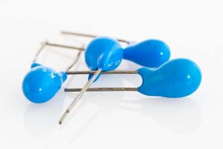 capacitors: very precise tantalum capacitors with a very long life Stock Photo