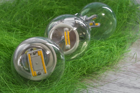 e27: E27 LED bulbs with different power and  chips in in transparent glass bulb