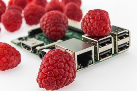 hdmi: many raspberries and circuit board with rj45, hdmi and usb connectors