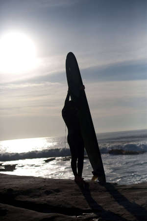 a surfers silhouette
