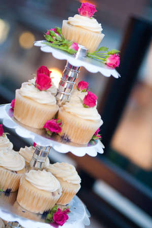 Cupcakes on a silver holder
