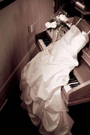 Sepia Wedding Dress