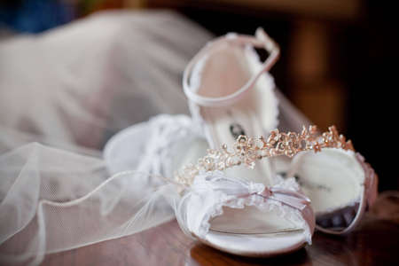 bridal shoes 免版税图像