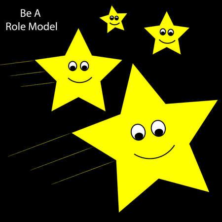 Bigger Stars Show Smaller Children Stars How To Shoot Ilustração