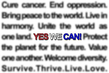 humanismo: �S�, podemos!  Foto de archivo