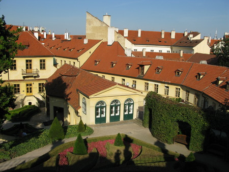 baroque architecture: Prague Mala Strana, Czech Republic - A look at the historical center, baroque architecture Editorial