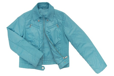 turquoise color jacket photo