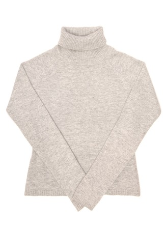 Grey sweater is on white background