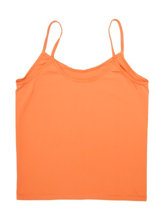 A orange tank top is on white background  Stock Photo