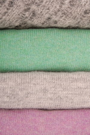 motton blue: It is close-up of sweaters  pile