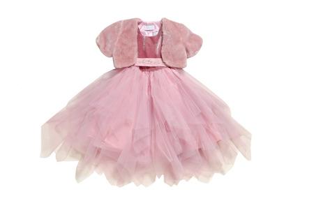 Pink ball-dress and pelerine