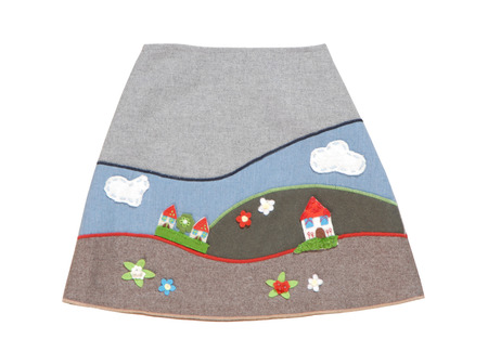 bell bottomed: skirt with embroidery for kids