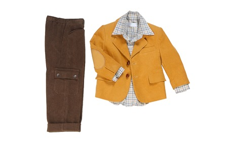 chinos: velveteen suit for boy