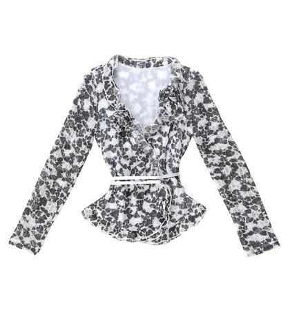 Grey blouse is isolated on white background  photo