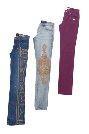 jeanswear: different fashionable jeans