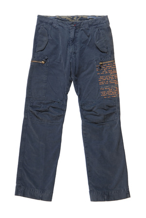 male blue chinos